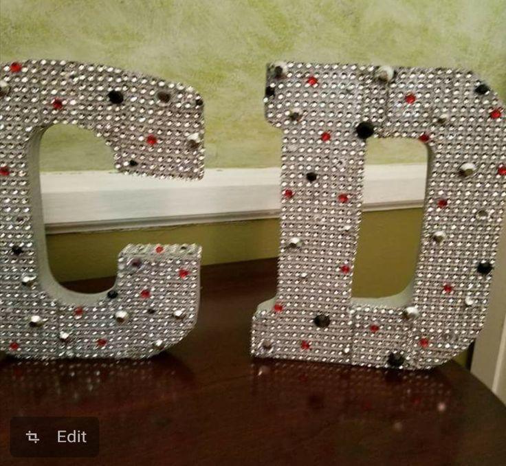 25 unique decorated letters ideas on pinterest decorating letters decorated wooden letters. Black Bedroom Furniture Sets. Home Design Ideas
