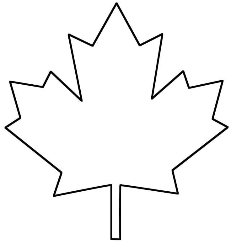 Vorlage zum Ausdrucken und Ausmalen - abstraktes Herbstblatt