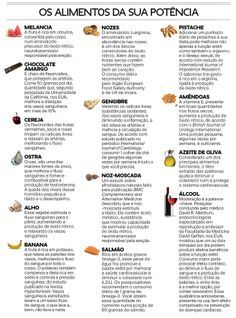 Alimentos que melhoram a virilidade masculina
