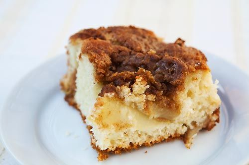 Bisquick Apple Coffee Cake ~ Apple coffee cake recipe made with Bisquick baking mix, with brown sugar streusel topping.   ~ SimplyRecipes.com