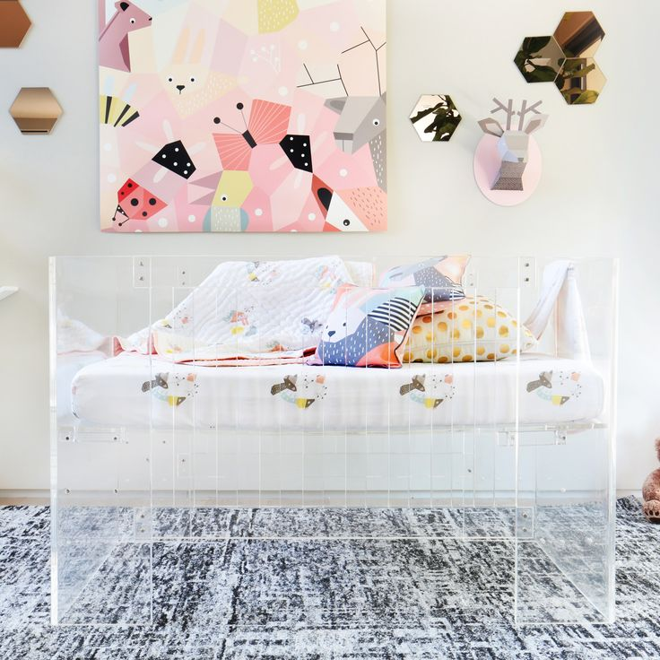 Nursery Works Vetro Clear Crib @LaylaGrayce