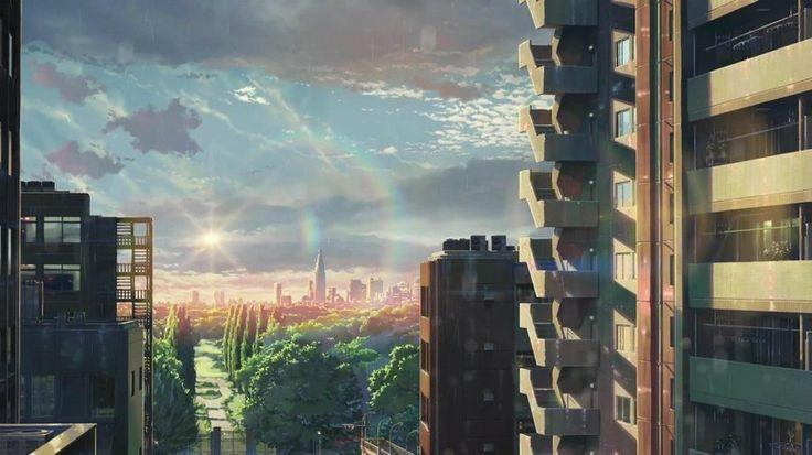 аниме пейзажи город - Поиск в Google