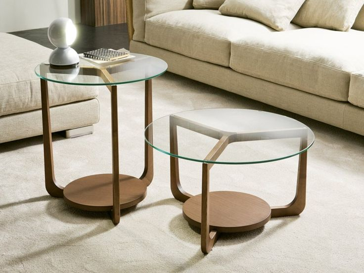 Low Wood And Glass Coffee Table Isola Coffee Table Pacini Cappellini
