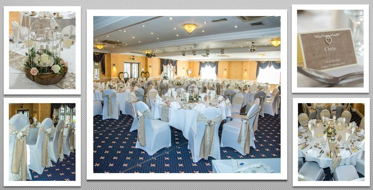 Sand/light brown coloured schemed venue dressing. White chair covers and sand with white lace chair sashes . You can hire venue dressing like this at Natalija.Co Event Planning, find us on facebook, or visit our website, www.natalija.co.uk