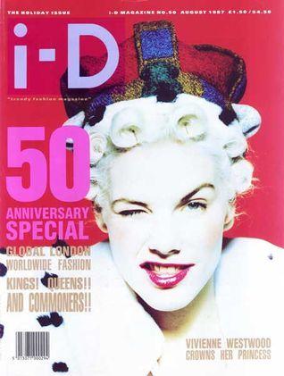"""Sara Stockbridge for UK """"i-D"""" Magazine, August 1987."""