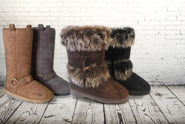 Faux-Suede or Buckle Boots