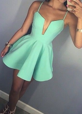 vestido sexy verde água