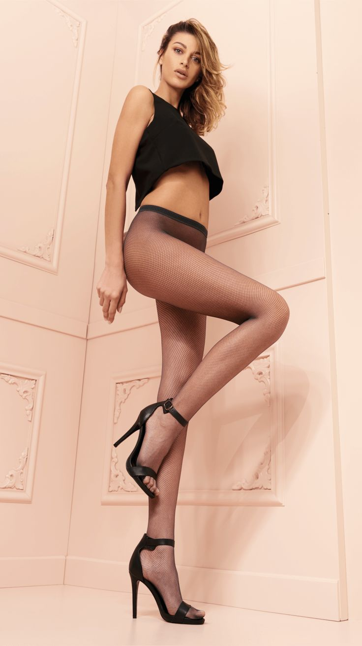 TRASPARENZE AMBRA COLLANT Fishnet tights. Sheer body, cotton gusset, seamless, invisible toe.