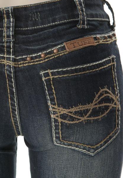 NEW Cowgirl Tuff DFMI West Jean (Coming Soon): Sierra Western Wear.... Barbwire stitching!