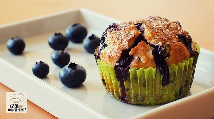 Low Carb Rezept für Low-Carb Blueberry-Muffins mit Quark. Wenig Kohlenhydrate und einfach zum Nachkochen. Super für Diät/zum Abnehmen.