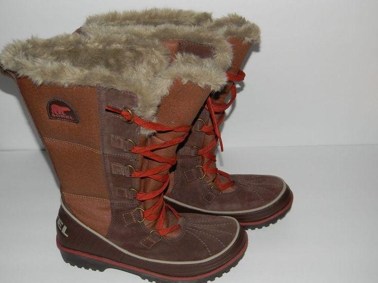 Sorel tivoli high ii sz 8.5 brown beige and orange women snow bootssend offer #Sorel #SnowWinterBoots