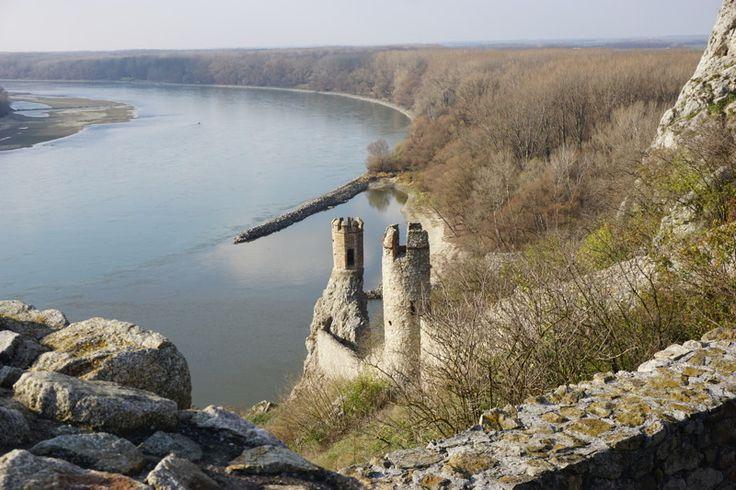 Burg Devín - Blick auf die Donau
