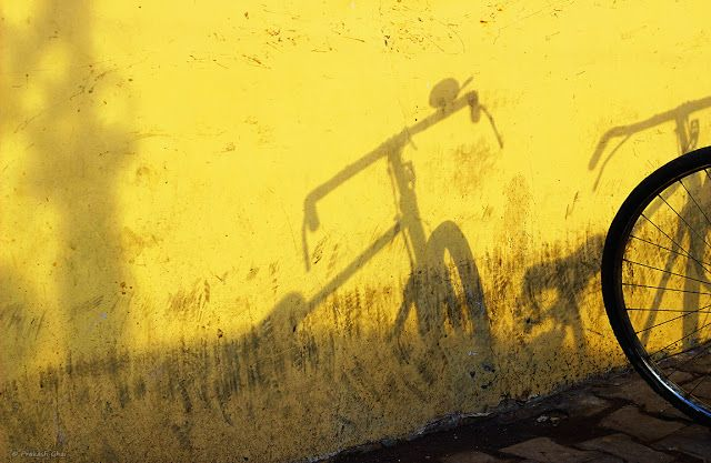 minimal, minimalism, minimal art, minimalist, simplicity, simple photos, less is more, jaipur, India, home decor, buy gifts, online shopping, buy art, prakash ghai, creative photos, buy photos, shadows, indian bicycle yellow wall, Indian visual artists, Indian photographers, buy visual art, buy photos online, buy artworks, tring tring cycle bell, old indian bicycle memories