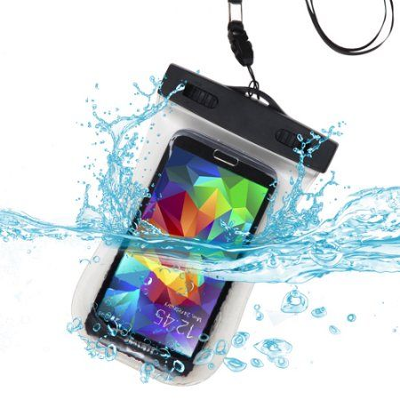 Universal Clear Waterproof Bag w/ Lanyard and Armband -Mobile Cell Phone Holder Image 1 of 6