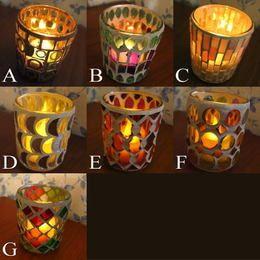 モザイクガラスのキャンドルカップ(2)
