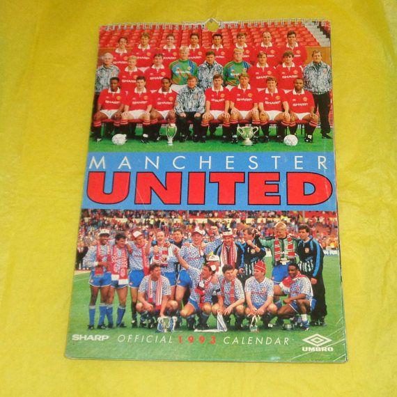 Manchester United Official 1993 Calendar Football Memorabilia
