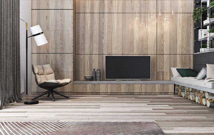 A Tour Of 4 Homes With On-Trend Wood Wall Treatments – Design Sticker