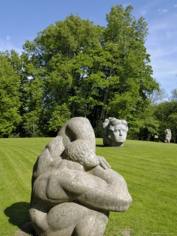 Sculpture Folklore Park, Turaida Museum Reserve, near Sigulda, Latvia, Baltic States by Gary Cook