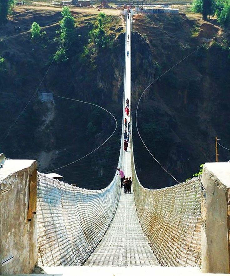 #Kusma-Gyadi #Bridge, #Nepal  - Suspension Bridge