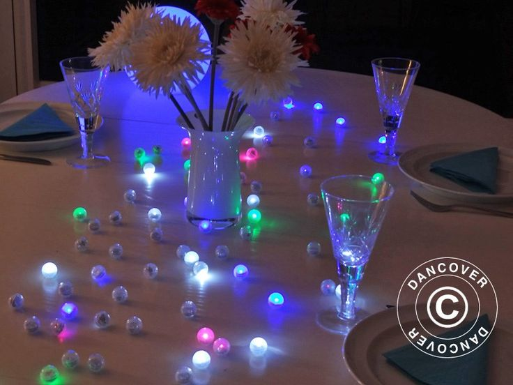 PARTY LIGHT, FAIRY BERRY, LED MIXED COLOURS, 48 PCS. Blinking LED party light. 48 pcs. Fairy Berries blink smoothly and create a wonderful atmosphere. Use them anywhere indoor or outdoor. Fairy Berries will blink beautifully 2-3 days.