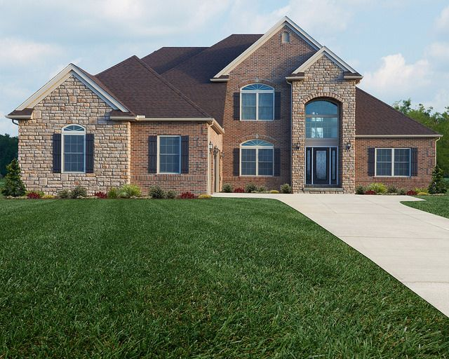 Covington legacy flickr photo sharing stone face home for Face brick homes