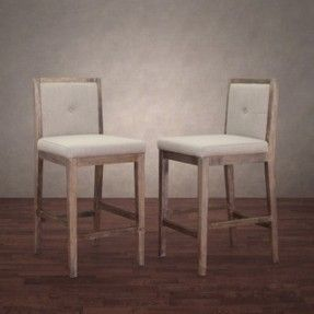 Patterson Beige Linen Counter Stools (Set of 2) | Shopping - Great Deals on Bar Stools