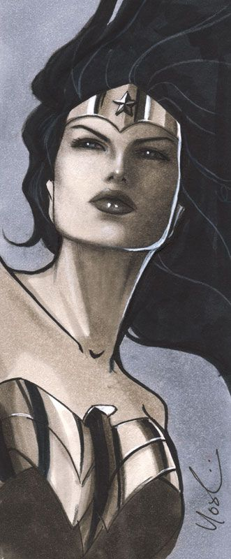 Wonder Woman Mini Portrait by Protokitty on deviantART