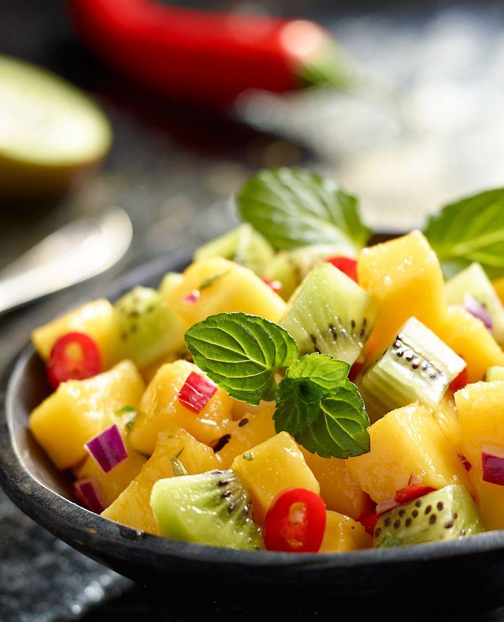 Salsa z kiwi i mango #lidl #przepis #salsa #kiwi #mango