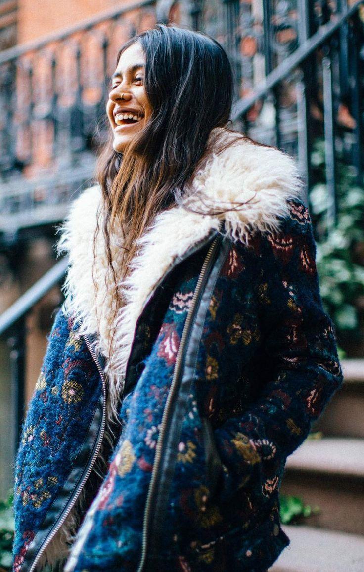 Jacquard Wool Coat | Free People