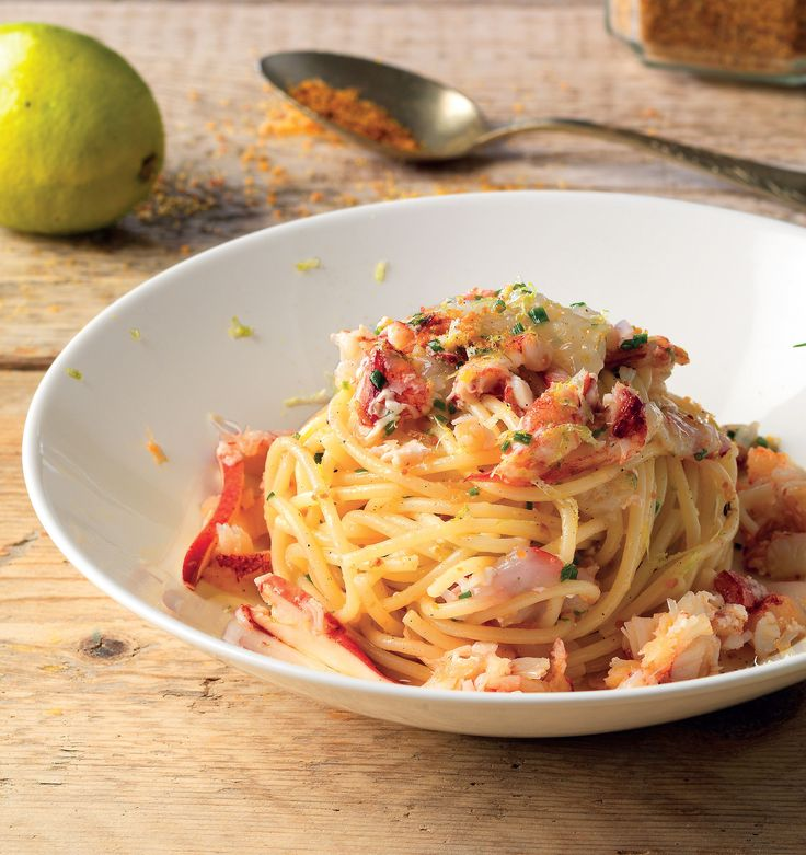 Spaghetti freddi all'astice e lime