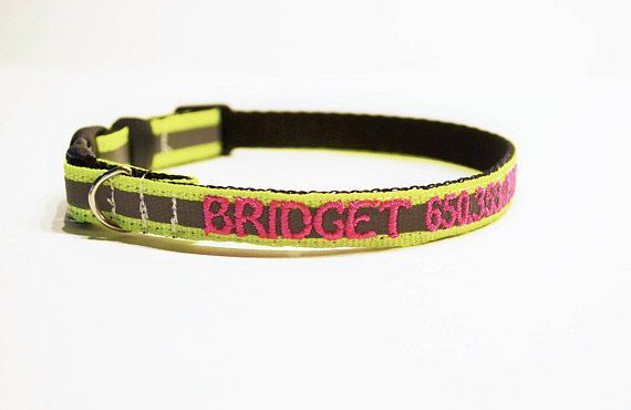 Personalized Cat Collar / Reflective Dog Collar / Made to