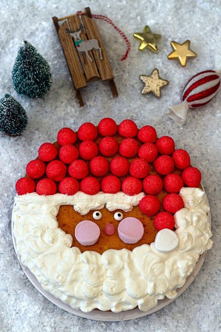 Gâteau Père Noël (facile et rapide) Amandine Cooking