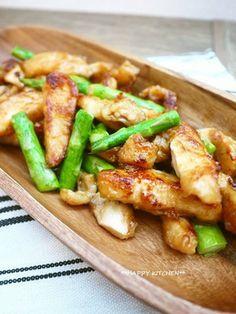 ぷりぷり!鶏むね肉とアスパラの中華炒め