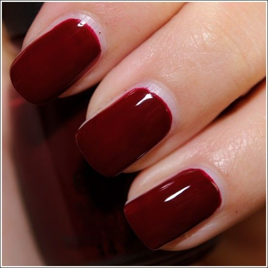 Dark Red Nail Polish: 1000+ Ideas About Dark Red Nails On Pinterest