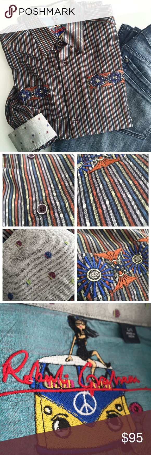 ROBERT GRAHAM Men's Long Sleeve Casual Button Down ROBERT GRAHAM Men's Long Sleeve Casual Button Down. No Defects/Excellent Used Condition ⚡️Super Fast Shipping % Authentic  Trades  Accepting Offers Robert Graham Shirts Casual Button Down Shirts