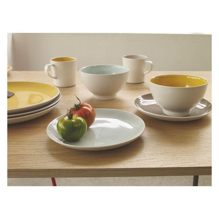 REX Set of 4 multi-coloured dinner plates D27.5cm | Buy now at Habitat UK