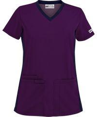 $10 UA Best Buy Scrubs V-Neck Top w/ Knit Side Panels