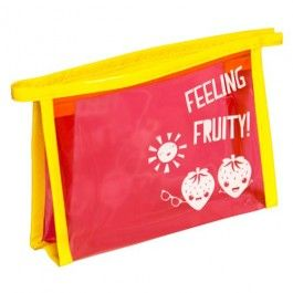 Positively Fruity sunny strawberry wash bag. To store all of your Fruity essentials! More Positively Fruity range available.