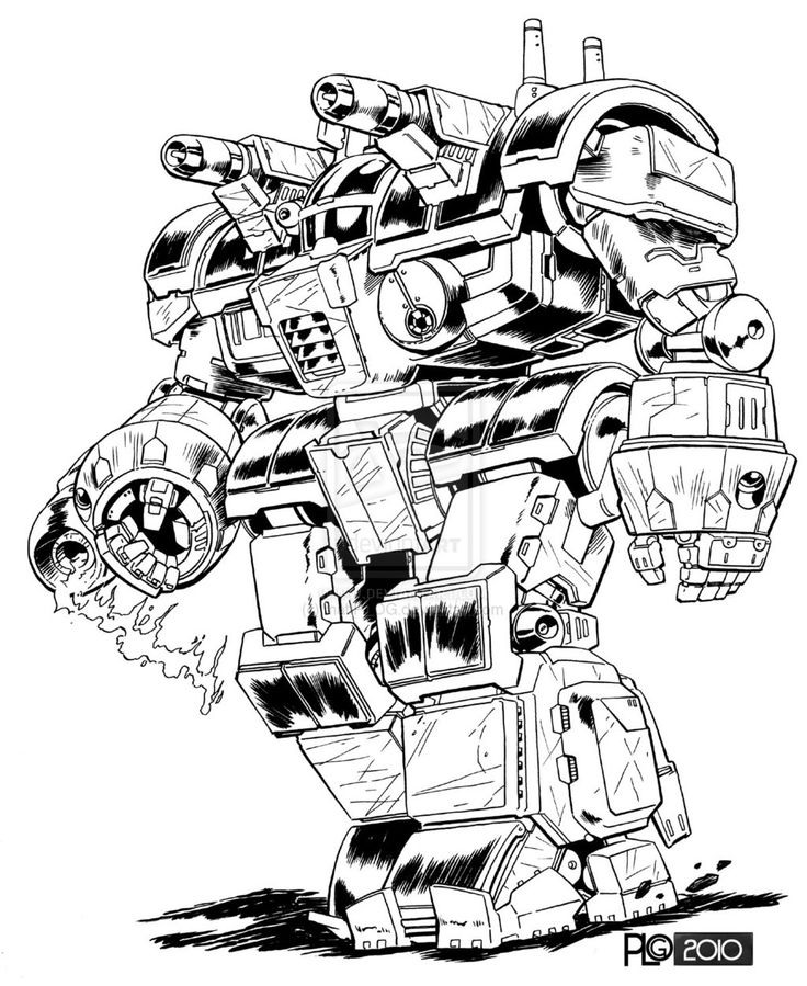 Comm- Commander Battlemech by mattPLOG.deviantart.com on @deviantART