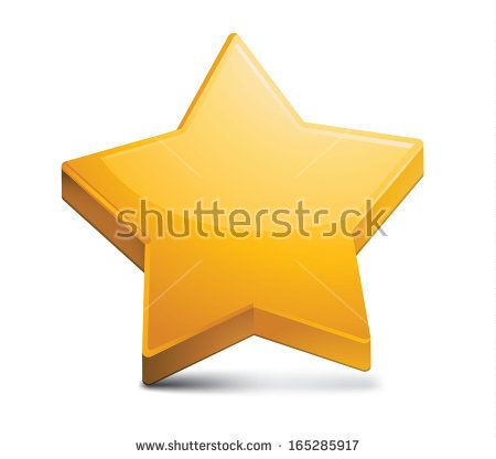 Golden Star Shape Icon