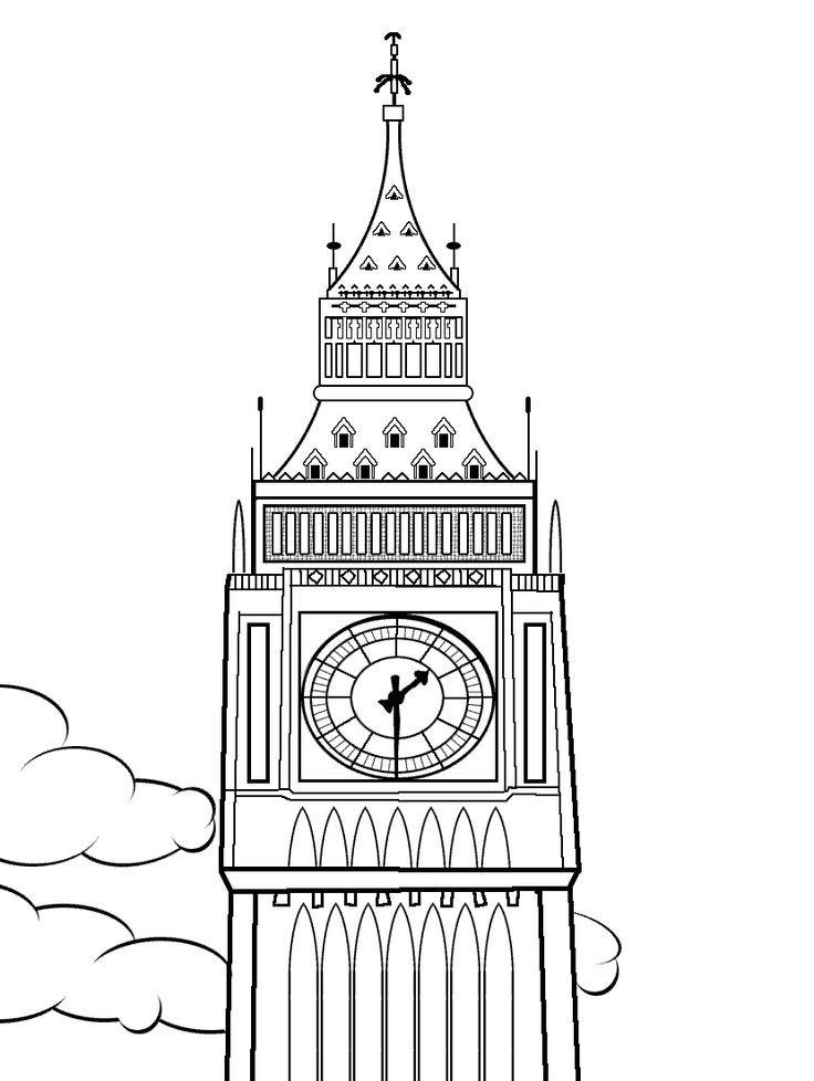 Kids Pages - Time Clock Coloring Sheets - Page 3