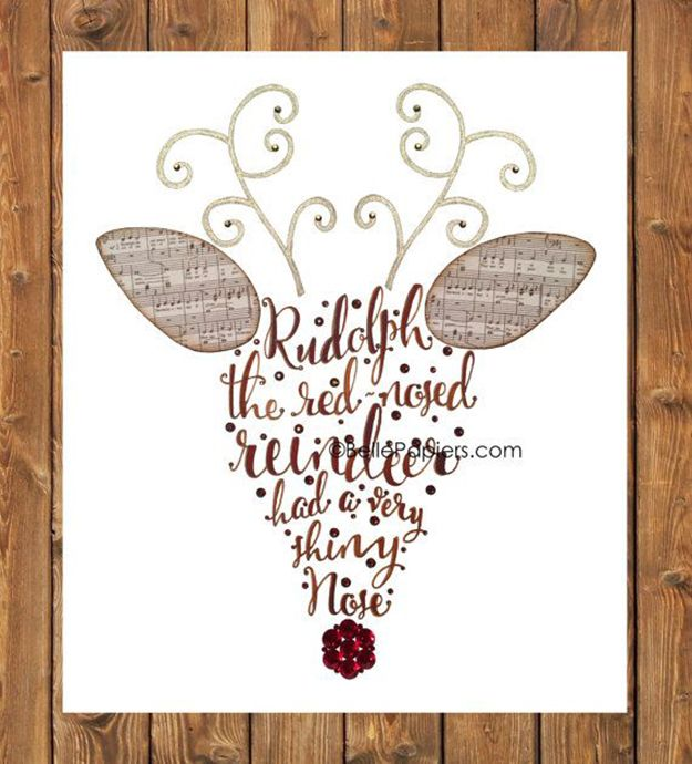 Christmas crafts and ideas! Rudolph Christmas Card