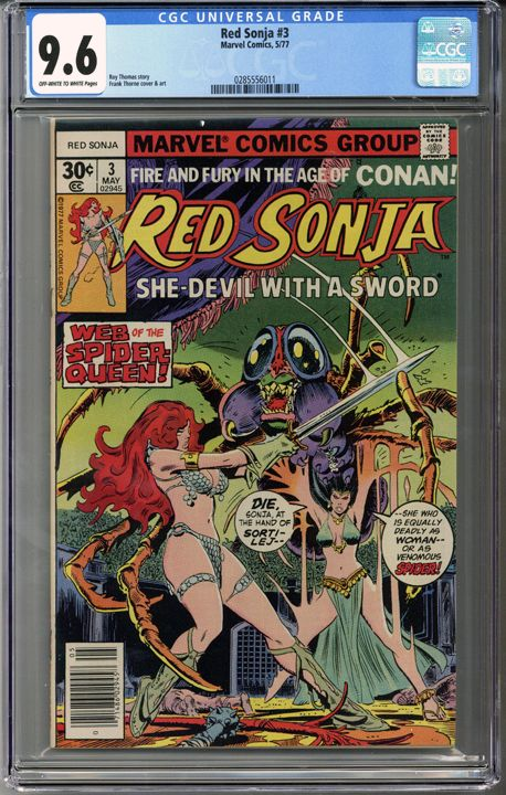 Red Sonja #3 CGC 9.6
