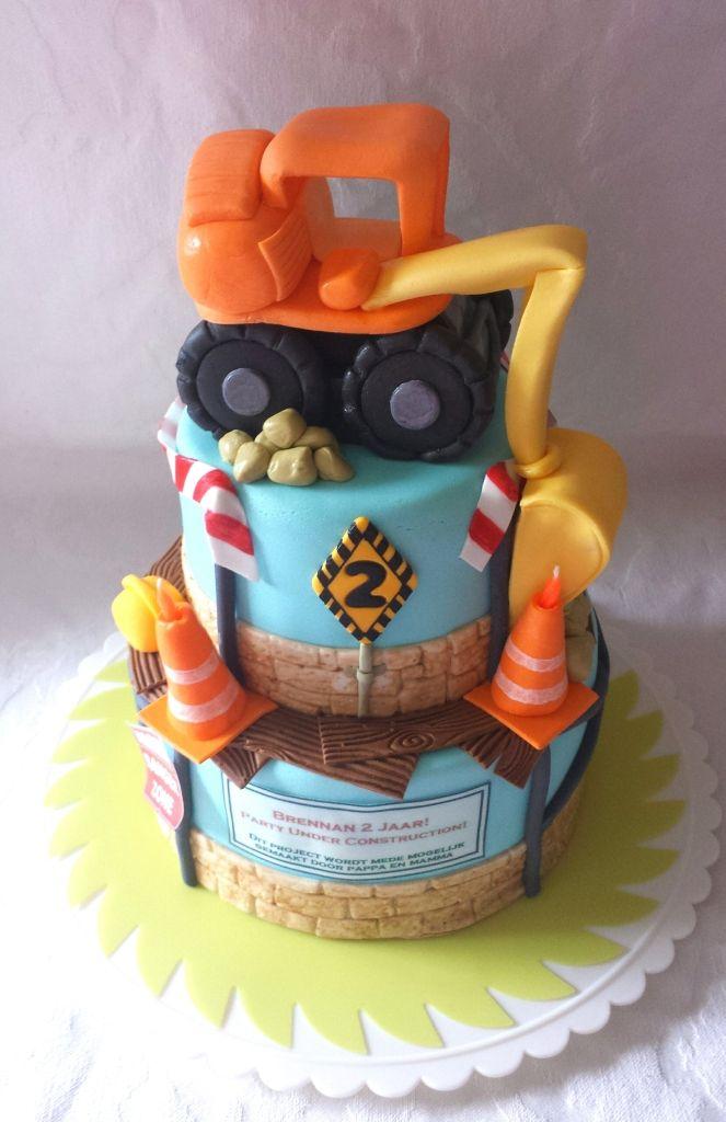 Bouw/Graafmachine Taart - Sweet Babycakes Barendrecht