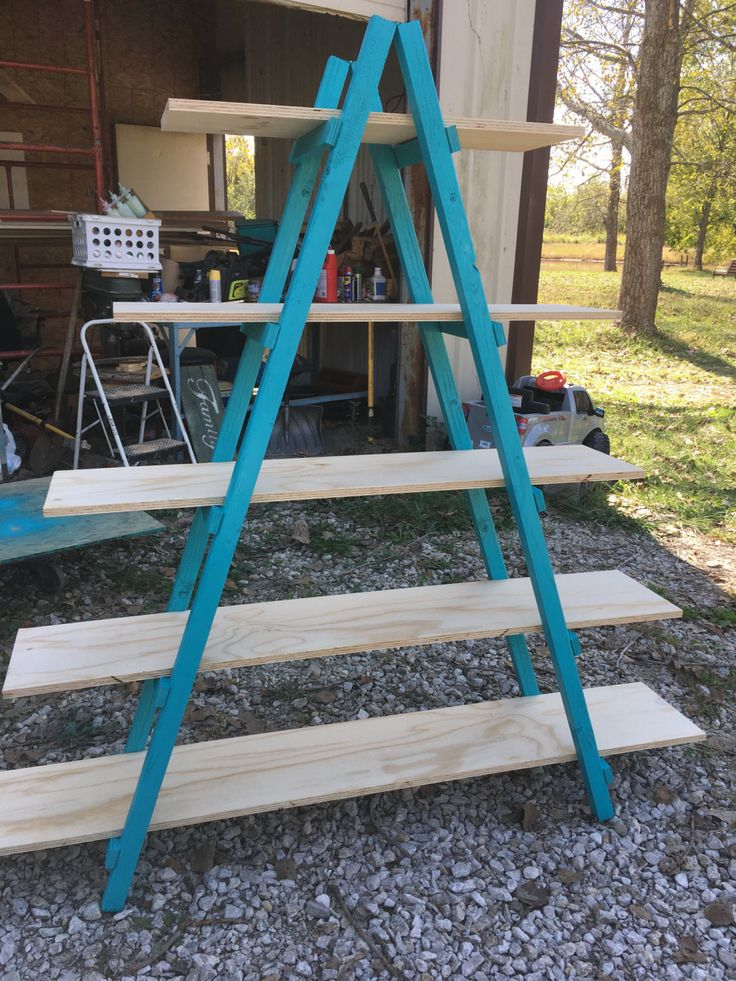 Ladder Shelf Shelf Display Craft Show Cascade Booth