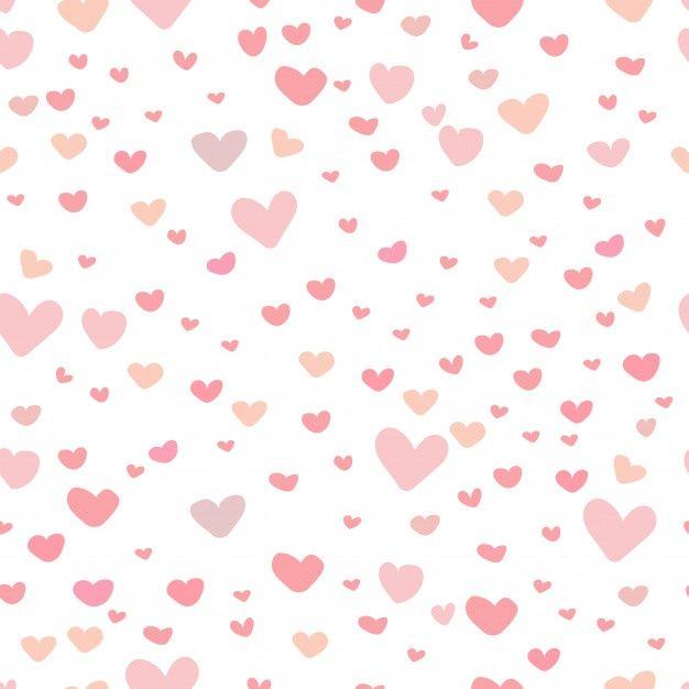 Cute Heart Pattern Background Heart Pattern Background Pink Pattern Background Background Patterns