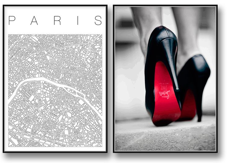 Guide to Paris poster Urban Walk. Fashion Canvastavla / Poster