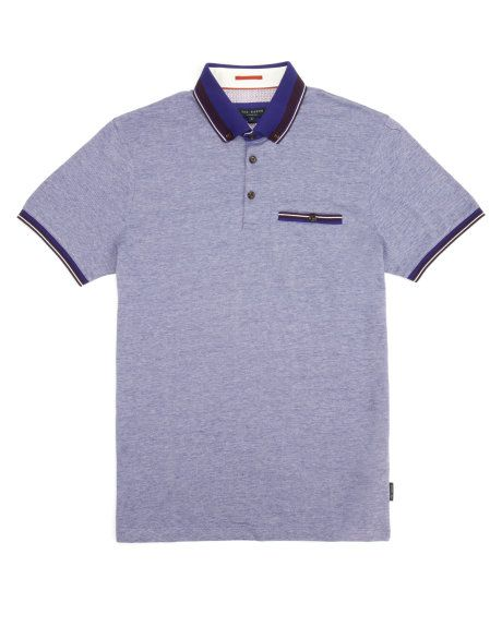 Oxford polo - Purple   Tops & T-Shirts   Ted Baker