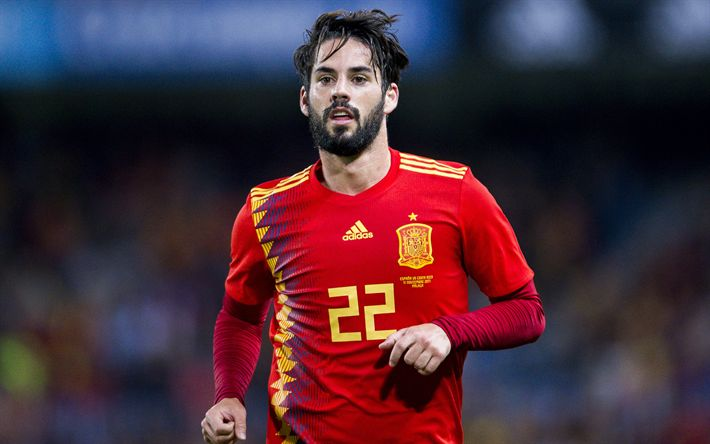 Download wallpapers Isco, 4k, footballers, Spain National Team, football, soccer
