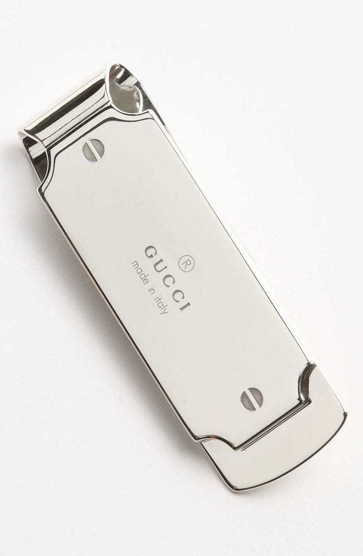 Love the Gucci Silver Money Clip http://www.wantering.com/mens-clothing-item/gucci-silver-money-clip/u97ThC/